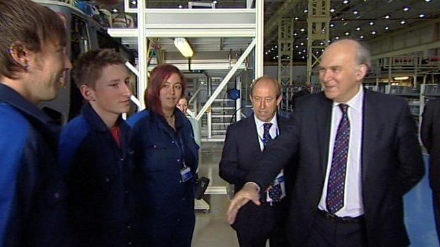Vince Cable meets apprentices