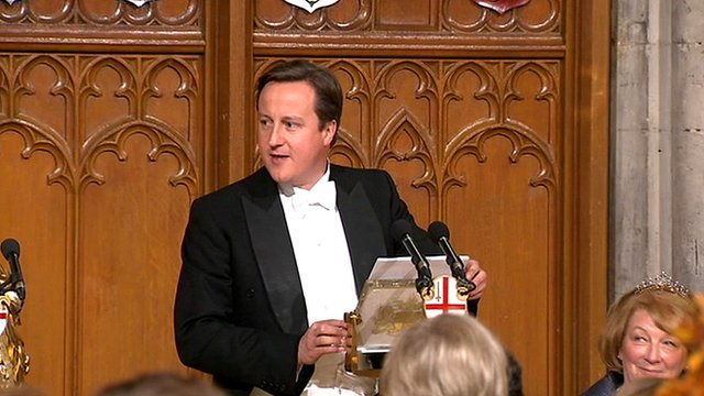 David Cameron at his City of London speech