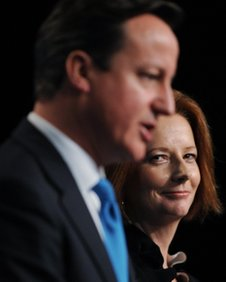 David Cameron and Julia Gillard