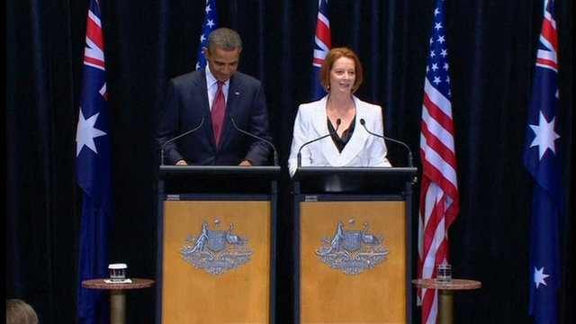 Julia Gillard and Barack Obama