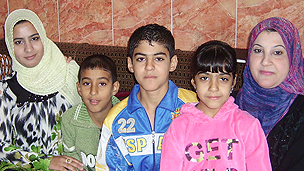 Mariam (R) and her children