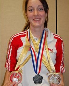 Kat Driscoll with her three silver medals