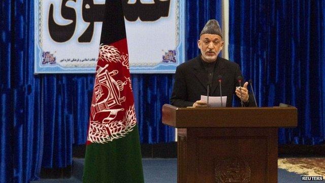 Afghan President, Hamid Karzai