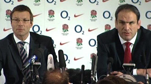 RFU operations director Rob Andrews and ex-England boss Martin Johnson