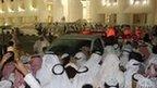 Kuwaitis demonstrators storm the Kuwaiti National Assembly in Kuwait City