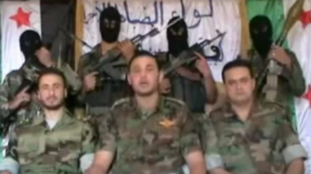 Syrian opposition members