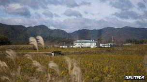 A deserted field in the exclusion zone around the Fukushima Daiichi nuclear plant