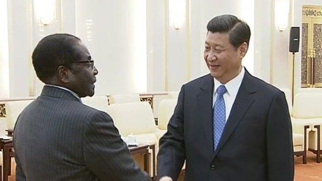 Robert Mugabe and Xi Jinping