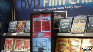 Tesco DVD stand
