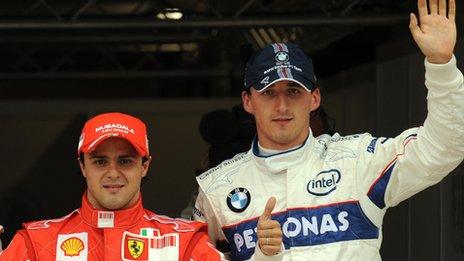 Massa and Kubica