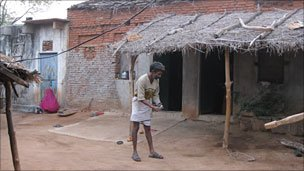 Hariya lives in a dilapidated house