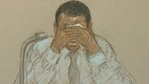 Court artist's sketch of Duwayne Brooks