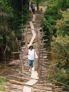 A rickety bridge in DR Congo (Copyright Theodore Trefon)