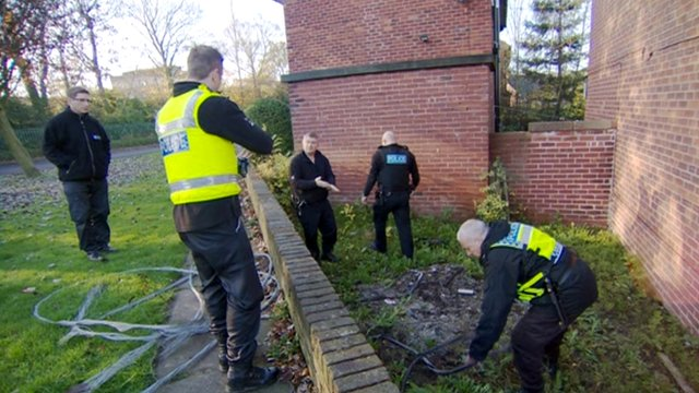 South Yorkshire Police on metal raid