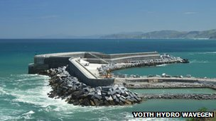 Voith Hydro Wavegen's Mutriku plant. Pic: Voith Hydro Wavegen
