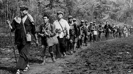 Pol Pot leads Khmer Rouge troops on 1 January 1979