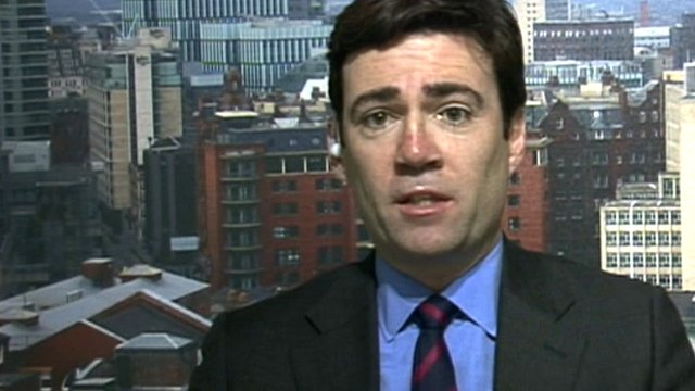 Shadow health secretary, Andy Burnham