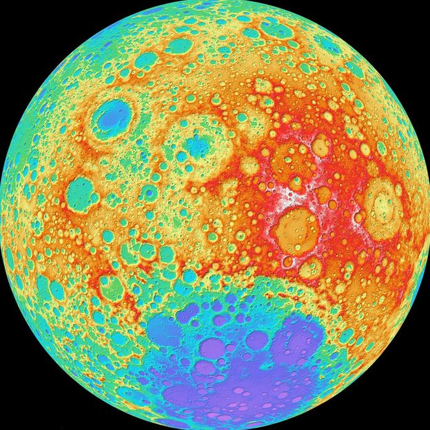 Lunar map