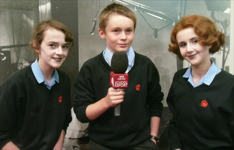 Amy, Finn and Chloe from Sackville School