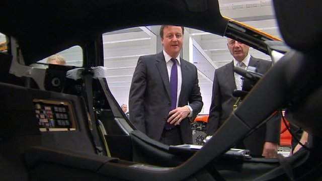 David Cameron at new McLaren factory in Woking