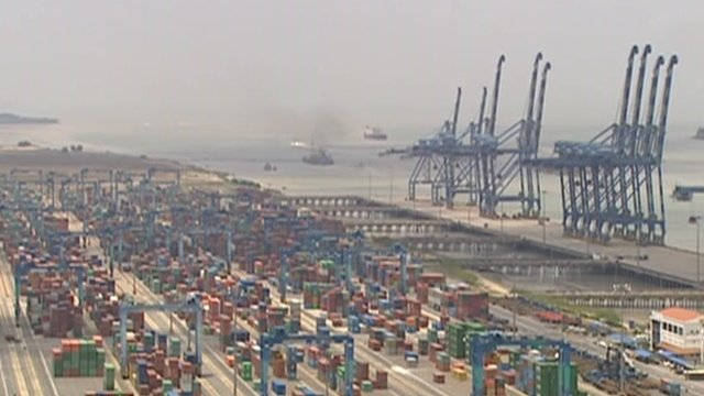 Malaysian container port