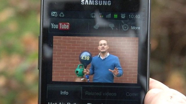 Mobile phone playing video