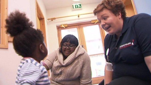 Angela and Priscillah Mudzingwa and nurse Mandy Haugh