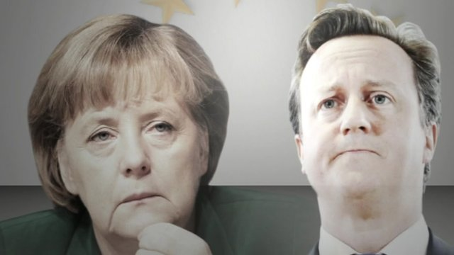Merkel and Cameron