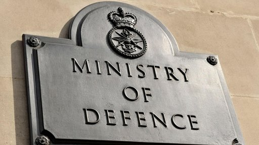 Sign at Ministry of Defence