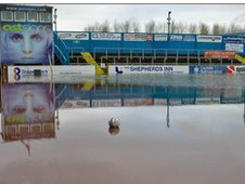 Carlisle United under water
