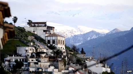View of Granada and Sierra Nevada