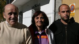 The Soler family - Vicky Soler (C), her father Victor (L), her son Ricardo 