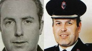The two officers were murdered by the IRA in south Armagh