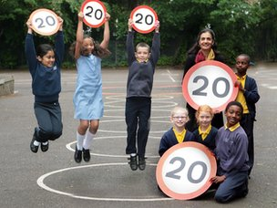 Children with 20mph