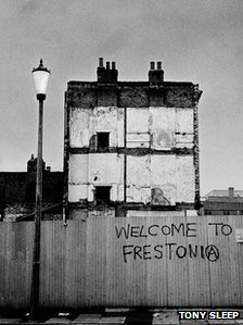 Historical photo of Frestonia squat area