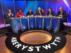 A Question Time panel in Aberystwyth