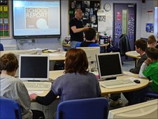 BBC mentor Mark James talks to Collingwood School pupils