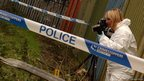 FSI photographing a crime scene. Photo: West Midlands Police
