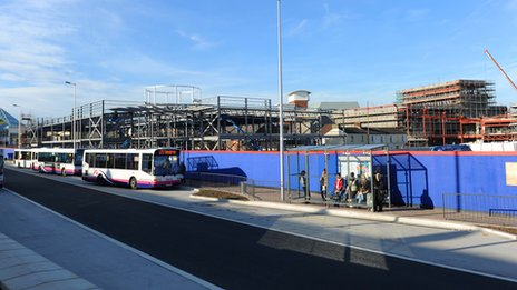 The Llanelli East gate Development under construction