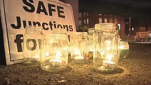 Vigil for cyclists