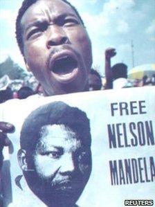 Free Nelson Mandela campaigner, 1990