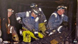 Rescue operation at Gleision mine