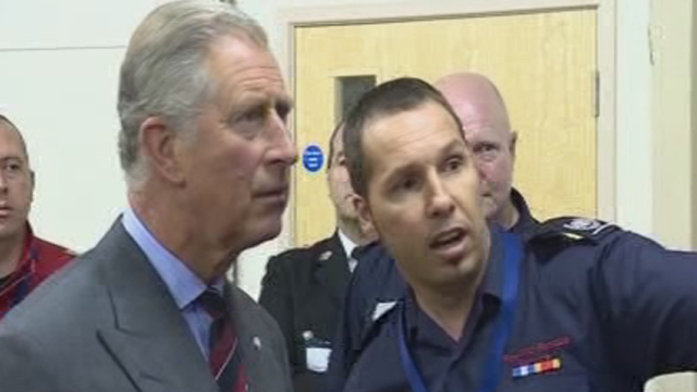Prince Charles meets mine rescue workers