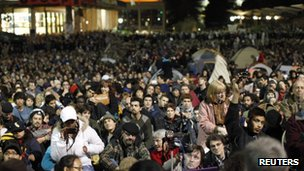 Occupy protesters at the University of California, Berkeley