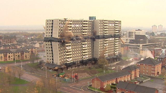 The 17-storey Glencairn Tower block in Motherwell