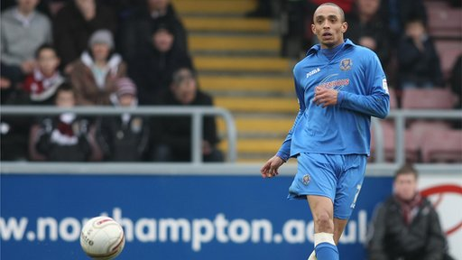 Mark Wright (pictured playing at Northampton in March 2011) scored twice in Shrewsbury's 7-2 rout of Northampton
