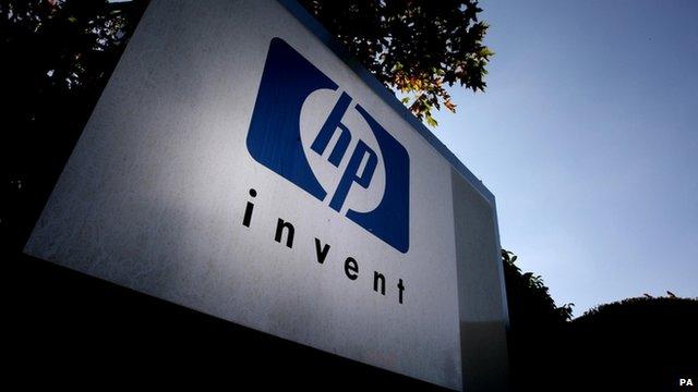 Hewlett Packard outside its UK headquarters