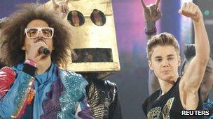 LMFAO and Justin Bieber