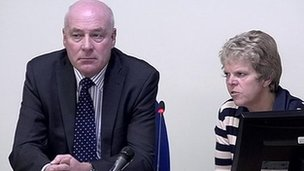 Bob and Sally Dowler giving evidence at the Leveson Inquiry on 21 November 2011