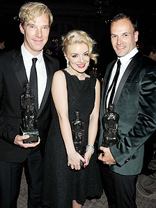 Benedict Cumberbatch, Sheridan Smith and Jonny Lee Miller